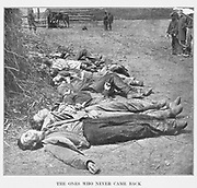 THE ONES WHO NEVER CAME BACK from the book ' The Civil war through the camera ' hundreds of vivid photographs actually taken in Civil war times, sixteen reproductions in color of famous war paintings. The new text history by Henry W. Elson. A. complete illustrated history of the Civil war