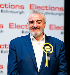 Edinburgh, Scotland, UK. 12th December 2019. Tommy Shepherd MP speech after winning Edinburgh East at Parliamentary General Election Count at the Royal Highland Centre in Edinburgh. Iain Masterton/Alamy Live News