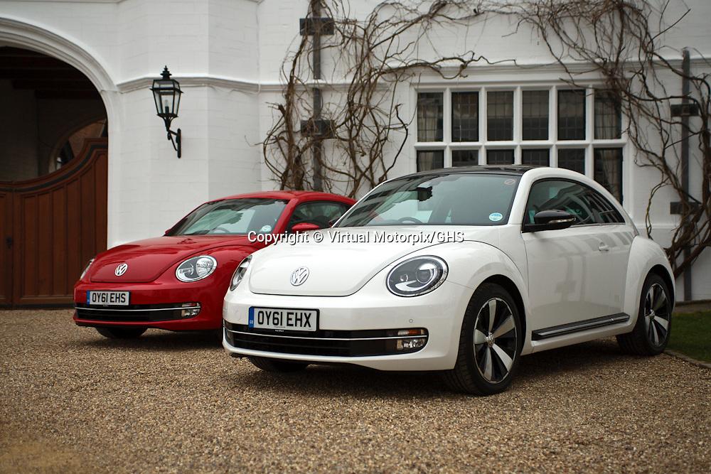 VW Beetle (2012), Launch at Danesfield House, Wooburn, Buckinghamshire, United Kingdom