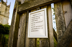 Imber St. Giles Church opening times in Imber village on Salisbury Plain, Wiltshire, where residents were evicted in 1943 to provide an exercise area for US troops preparing to invade Europe. Roads through the MoD controlled village are now open and will close again on Monday August 22.
