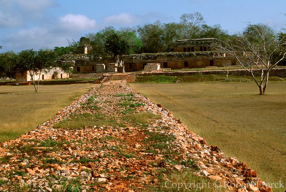 MEXICO, MAYAN, YUCATAN Labna; sacbé or Mayan road
