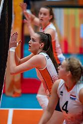 Marije ten Brinke of Netherlands in action during United States - Netherlands, FIVB U20 Women's World Championship on July 15, 2021 in Rotterdam