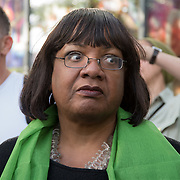 Diane Abbott joins thirty thousand marchers at the Grenfell Silent Walk - 1 Year On to mark the anniversary of the Grenfell Tower fire, demand Justice for Grenfell on June 14, 2018, London, UK.