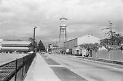 0609-69-35 Warner film lot and Burbank Studio water tower, Burbank, California.