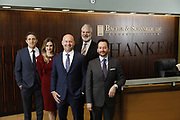 SHOT 1/8/19 12:13:00 PM - Bachus & Schanker LLC lawyers James Olsen, Maaren Johnson, J. Kyle Bachus, Darin Schanker and Andrew Quisenberry in their downtown Denver, Co. offices. The law firm specializes in car accidents, personal injury cases, consumer rights, class action suits and much more. (Photo by Marc Piscotty / © 2018)