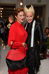 Jasmine and Daphne Guinness on the front row during the Jasper Conran London Fashion Week SS18 show held at Claridge's, London. Picture date: Saturday September 16th, 2017. Photo credit should read: Matt Crossick/ EMPICS Entertainment.