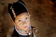 Burma/Myanmar. Little boy from the Akha tribe.