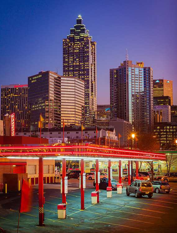 Atlanta Varsity drive-through diner at night<br /> ------<br /> Atlanta is the capital and most populous city in the U.S. state of Georgia. Atlanta's population is 545,225. Atlanta is the cultural and economic center of the Atlanta metropolitan area, which is home to 5,268,860 people and is the ninth largest metropolitan area in the U.S.