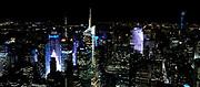 nighttime skyline of Manhattan, New York City, NY, USA
