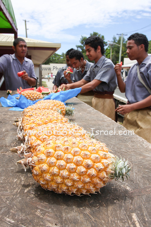 Tonga pineapples in the Market