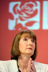 """© under license to London News Pictures. LONDON, UK. 25/02/14 Harriet Harman has said she """"regrets"""" that a civil liberties group she used to work for had links to pro-paedophile campaigners in the 1970s and 1980s. FILE PICTURE DATED  03/05/2011. Labour Leader Ed Miliband holds a press conference with Harriet Harmen at the party's HQ this morning (03 May 2011). The Conference was to urge people to vote in favour of a yes vote at the forth coming AV Referendum. Photo credit should read Stephen Simpson/LNP."""