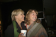 Candida Lycett-Green and Imogen Christie, The Cornish Birthday party to Celebrate John Betjeman's Centenary. Carruan Farm. Polzeath. Conrwall. In aid of the new Padstow Lifeboat Station. 28 August 2006. ONE TIME USE ONLY - DO NOT ARCHIVE  © Copyright Photograph by Dafydd Jones 66 Stockwell Park Rd. London SW9 0DA Tel 020 7733 0108 www.dafjones.com