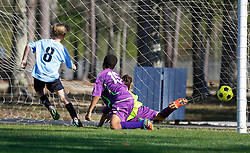 06 March 2016.  Mandeville, Louisiana.<br /> New Orleans Jesters Youth Academy U10 Purple vs Mandeville Soccer Club 'Black.' Jesters emerge victorious 6-5.<br /> Photo©; Charlie Varley/varleypix.com