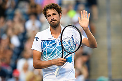 August 9, 2018 - Toronto, ON, U.S. - TORONTO, ON - AUGUST 09: Robin Haase (NED) acknowledges the fans after winning his third round match of the Rogers Cup tennis tournament on August 9, 2018, at Aviva Centre in Toronto, ON, Canada. (Photograph by Julian Avram/Icon Sportswire) (Credit Image: © Julian Avram/Icon SMI via ZUMA Press)