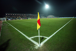 Stadium in Nova Gorica during the UEFA Friendly match between national teams of Slovenia and Denmark at the Stadium on February 6, 2008 in Nova Gorica, Slovenia. Slovenia lost 2:1. (Photo by Vid Ponikvar / Sportal Images).