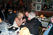 KATE MOSS; COLIN FIRTH; NICKY HASLAM, Graydon Carter hosts a diner for Tom Ford to celebrate the London premiere of ' A Single Man' Harry's Bar. South Audley St. London. 1 February 2010