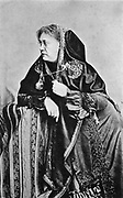 Helena Petrovna Blavatsky (born Hahn) 1831-1891. Russian-born American theosophist, photographed at Ithaca, NY 1875, the year she co-founded the Theosophical Society with Henry Olcott.