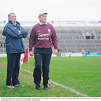 10 February 2008; Galway manager Ger Loughnane, right, alongside Clare manager Mick McNamara during the game. Allianz National Hurling League, Division 1B, Round 1, Galway v Clare, Pearse Stadium, Galway. Picture credit; David Maher / SPORTSFILE