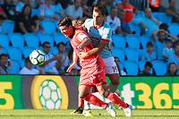 RC Celta de Vigo's Jonny Castro (r) and Real Sociedad's Carlos Vela during La Liga match. August 19,2017. (ALTERPHOTOS/Acero)