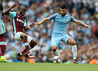 Football - Nolito of Manchester City and Enner Valencia of West Ham during the match at the Etihad Stadium between Manchester City and West Ham United. <br /> <br /> 2016 / 2017 Premier League - Manchester City vs. West Ham United<br /> <br /> -- at The Etihad Stadium.<br /> <br /> COLORSPORT/LYNNE CAMERON