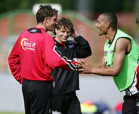 Fotball, 31. mai 2005, Trening Norge, John Carew, Claus Lundekvam <br /> May 31. 2005, Training Norway, John Carew , Claus Lundekvam