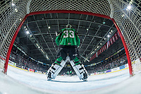 KELOWNA, BC - JANUARY 19: Ian Scott #33 of the Prince Albert Raiders stands in net against the Kelowna Rockets  at Prospera Place on January 19, 2019 in Kelowna, Canada. (Photo by Marissa Baecker/Getty Images)***Local Caption***