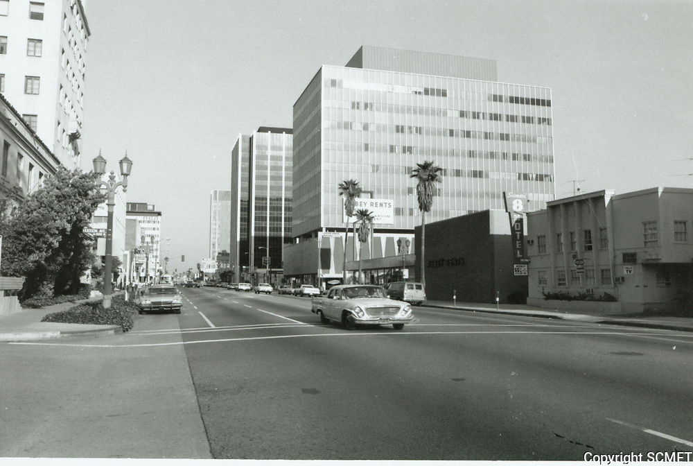1976 Looking east on Sunset Blvd. at Hudson Ave.