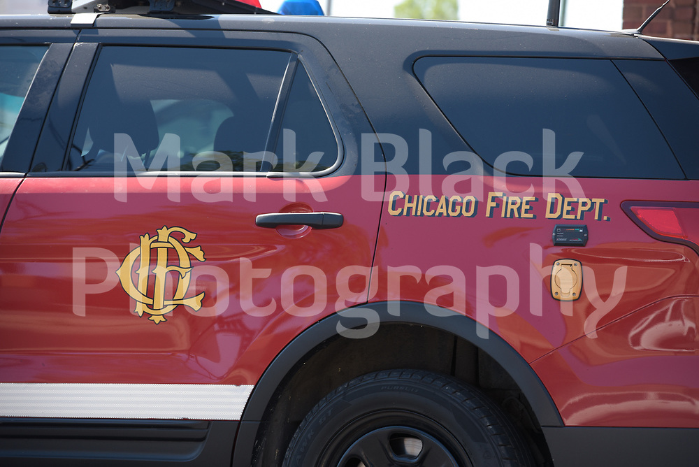 Chicago Fire Department SUV vehicle in Chicago on Wednesday, Aug. 19, 2020.  Photo by Mark Black