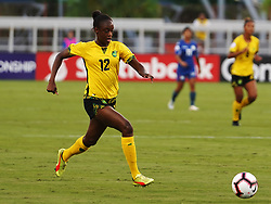 October 12, 2018 - Edinburgh, Scotland, United Kingdom - Edinburg, NC - OCTOBER 11: 2018.Sashana Campbell of Jamaica.During CONCACAF Women's Championship Group B match between Cuba against Jamaica at H-E-BPark Stadium, Edinburg,  on October 11, 2018  (Credit Image: © Action Foto Sport/NurPhoto via ZUMA Press)