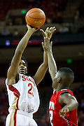 Jalon Anderson (23) of South Grand Prairie shoots the ball against Fort Bend Travis during the UIL 5A state championship game at the Frank Erwin Center in Austin on Saturday, March 9, 2013. (Cooper Neill/The Dallas Morning News)