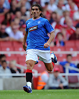 Pedro Mendes<br /> Rangers 2009/10<br /> Arsenal V Rangers (3-0) 02/08/09 at the Emirates Stadium<br /> The Emirates Cup 2009<br /> Photo Robin Parker Fotosports International
