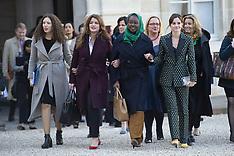 Equality Women's Advisory Council Arrivals - Paris - 19 Feb 2019