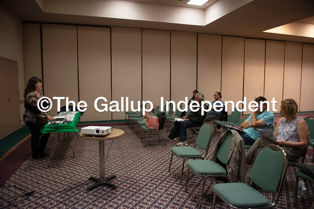 Veronica Williams with Gallup Title Company holds a session about title insurance Saturday, March 7 during the second annual Gallup Housing Summit at Howard Johnson in Gallup.
