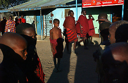 Maasai living in Malambo, near the Ngornogoro Crater in Tanzania, November 12, 2003.   Maasai living there have been evicted from their land in the name of conservation. The numbers of wildlife living in the Crater have actually decreased since the Maasai were evicted mainly because of increased traffic and poaching. (Photo by Ami Vitale)