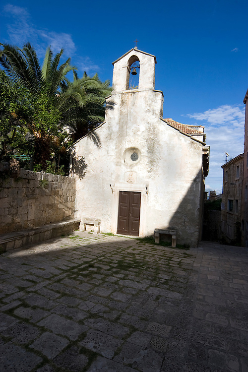 Small church in Korcula, Croatia
