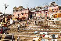 A typical morning at Nagaram Ghat in Varanasi, Uttar Pradesh, India