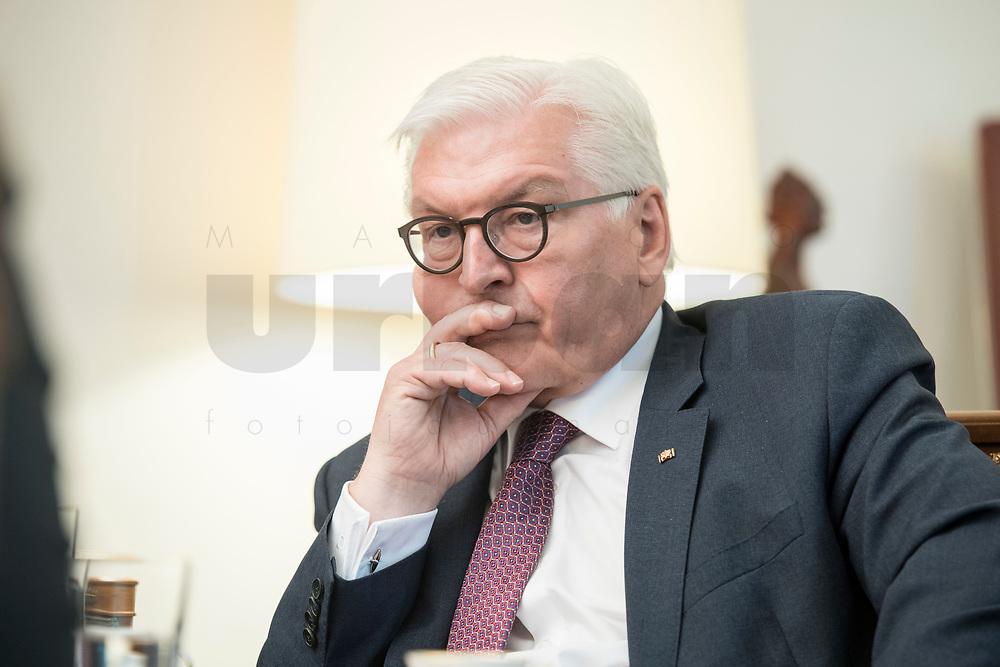 02 JUL 2018, BERLIN/GERMANY:<br /> Frank-Walter Steinmeier, Bundespraesident, waehrend einem Interview, Amtszimmer des Bundespraesidenten, Schloss Bellevue<br /> IMAGE: 20180702-01-019<br /> KEYWORDS: Bundespräsident