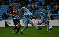 Photo: Steve Bond.<br />Coventry City v Notts County. The Carling Cup. 14/08/2007. Leon Best (22) shoots