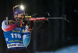 Mario Dolder (SUI) in action during the Men 10km Sprint at day 6 of IBU Biathlon World Cup 2018/19 Pokljuka, on December 7, 2018 in Rudno polje, Pokljuka, Pokljuka, Slovenia. Photo by Vid Ponikvar / Sportida