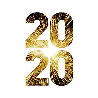 Nyttårsmarkering i form av fyrverkeribilde i årstallet «Godt nyttår 2020».