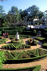 Stock photo of people in Bayou Bend Garden
