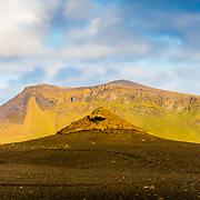 Sólheimasandur arid volcanic scenery