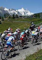 06.07.2011, AUT, 63. OESTERREICH RUNDFAHRT, 4. ETAPPE, MATREI-ST. JOHANN, im Bild ein Feature der Fahrer im Feld mit Fredrik Kessiakoff, (SWE, Pro Team Astana), dahinter der Großglockner // during the 63rd Tour of Austria, Stage 4, 2011/07/06, EXPA Pictures © 2011, PhotoCredit: EXPA/ S. Zangrando