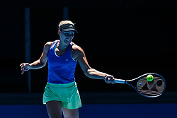January 14, 2019 - Melbourne, VIC, U.S. - MELBOURNE, VIC - JANUARY 13: ANGELIQUE KERBER (GER) .during practice day of the 2019 Australian Open on January 13, 2019 at Melbourne Park Tennis Centre Melbourne, Australia (Photo by Chaz Niell/Icon Sportswire) (Credit Image: © Chaz Niell/Icon SMI via ZUMA Press)