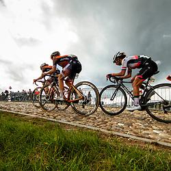 22-08-2020: Wielrennen: NK vrouwen: Drijber<br /> De koplopers Jip van den Bos (Netherlands / Boels - Dolmans Cycling Team), Anna van der Breggen (Netherlands / Boels - Dolmans Cycling Team) en Anouska Koster (Netherlands / Team Parkhotel Valkenburg)