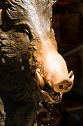 Fontana del Porcellino (the bronze boar) at Mercato Nouvo, Florence, Tuscany, Italy