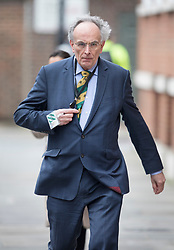 © Licensed to London News Pictures.23/03/2017.London, UK. Peter Bone MP walks to Parliament through back streets, the day after a lone terrorist killed 4 people and injured several more, in an attack using a car and a knife. The attacker managed to gain entry to the grounds of the Houses of Parliament, killing one police officer.Photo credit: Peter Macdiarmid/LNP