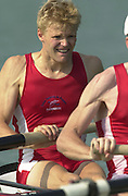2003 - FISA World Cup Rowing Milan Italy.30/05/2003  - Photo Peter Spurrier.DEN LM 4- Bow, Bo HELLEBERG, [Mandatory Credit: Peter Spurrier:Intersport Images]
