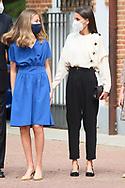 Queen Letizia of Spain, Crown Princess Leonor, Princess Sofia attends for The Confirmation of Princess Leonor at Asuncion de Nuestra Senora Church  on May 28, 2021 in Madrid, Spain