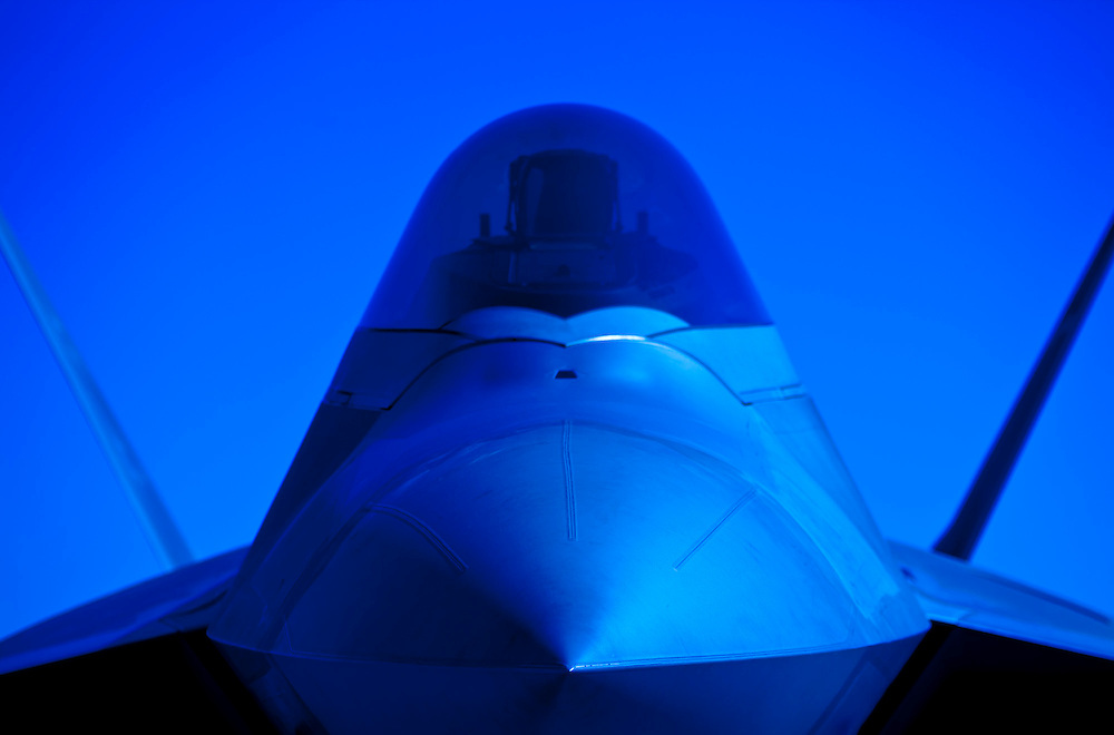 F-22 Raptor nose.  Dobbins Air Reserve Base, Marietta, Georgia.  <br />